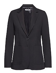 Padded shoulder blazer - BLACK