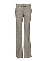 Gingham suit trousers - BROWN