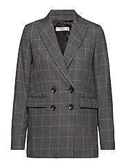 Check Structured blazer - GREY