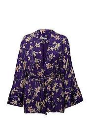 Floral print kimono - MEDIUM PURPLE