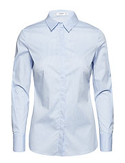 Printed cotton shirt - LT-PASTEL BLUE