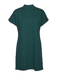 Ribbed jersey dress - DARK GREEN
