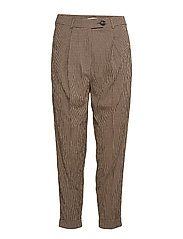 Check suit trousers - BROWN