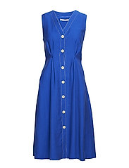 Decorative seam dress - MEDIUM BLUE