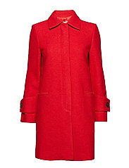 Structured wool coat - RED