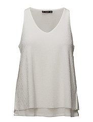 Textured top - NATURAL WHITE