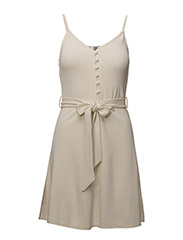 Bow knitted dress - LIGHT BEIGE