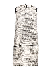 Tweed dress - LIGHT BEIGE
