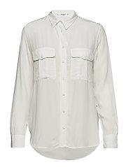 Pockets flowy shirt - NATURAL WHITE