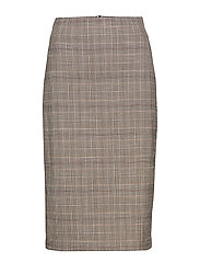 Check pencil skirt - GREY