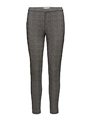 Checks print leggings - GREY