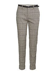 Belt check trousers - GREY
