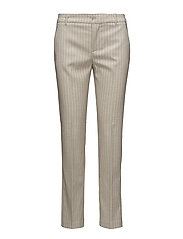 Straight striped trousers - LIGHT BEIGE