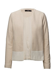 Combined cotton jacket - LT PASTEL BROWN