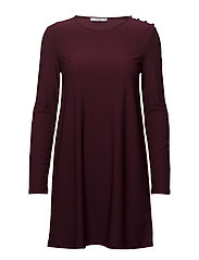 Buttoned dress - DARK RED