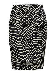 Zebra print skirt - BLACK