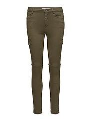 Cotton cargo trousers - BEIGE - KHAKI
