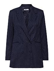 Striped suit blazer - NAVY