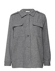 Wool-blend overshirt - GREY