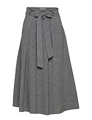 Flared long skirt - GREY