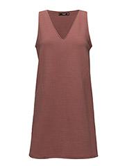 Textured cotton-blend dress - PINK