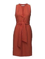 V-neckline dress - ORANGE