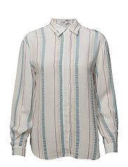 Metallic striped shirt - NATURAL WHITE