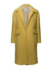 Unstructured wool-blend coat - YELLOW