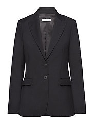 Pockets structured blazer - BLACK