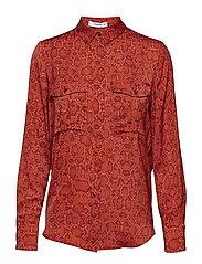 Snake print shirt - RED