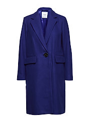 Structured wool coat - BRIGHT BLUE
