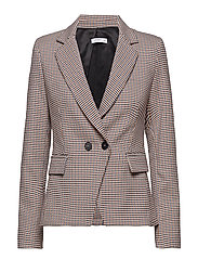 Houndstooth suit blazer - RED