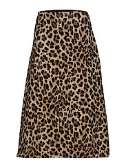 Leopard midi skirt - BROWN