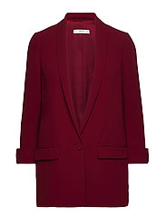 Shawl collar structured blazer - DARK RED