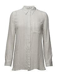 Striped textured shirt - NATURAL WHITE