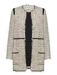 Pocket tweed jacket - LIGHT BEIGE