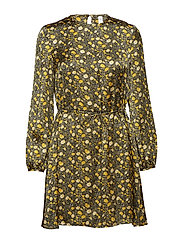 Floral print dress - YELLOW