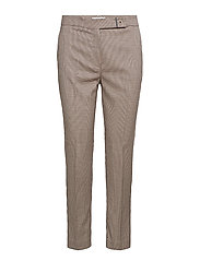 Houndstooth suit trousers - RED