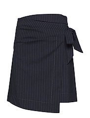Striped bow skirt - NAVY