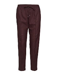 Adjustable waist trousers - DARK RED