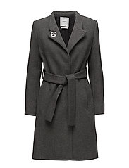 Buttoned wool coat - GREY