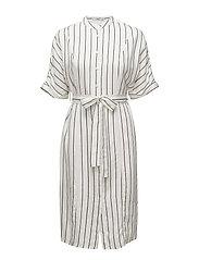 Striped shirt dress - NATURAL WHITE