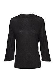 Flecked t-shirt - BLACK