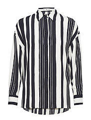 Geometric print shirt - BLACK