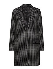 Lapels structured coat - WHITE