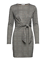 Printed bow dress - GREY