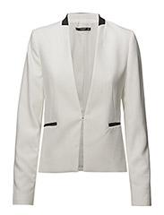 Inverted lapels blazer - NATURAL WHITE