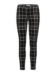 Checks print leggings - BLACK