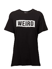 Organic cotton message t-shirt - BLACK