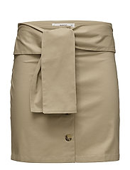 Bow cotton skirt - LIGHT BEIGE